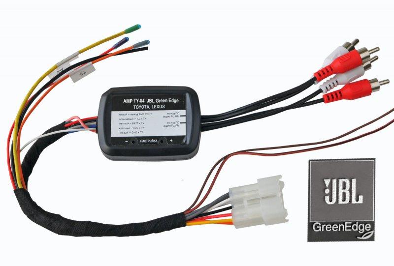 Адаптер подключения штатного усилителя Toyota, Lexus(JBL Green Edge)(Incar AMP-TY04)