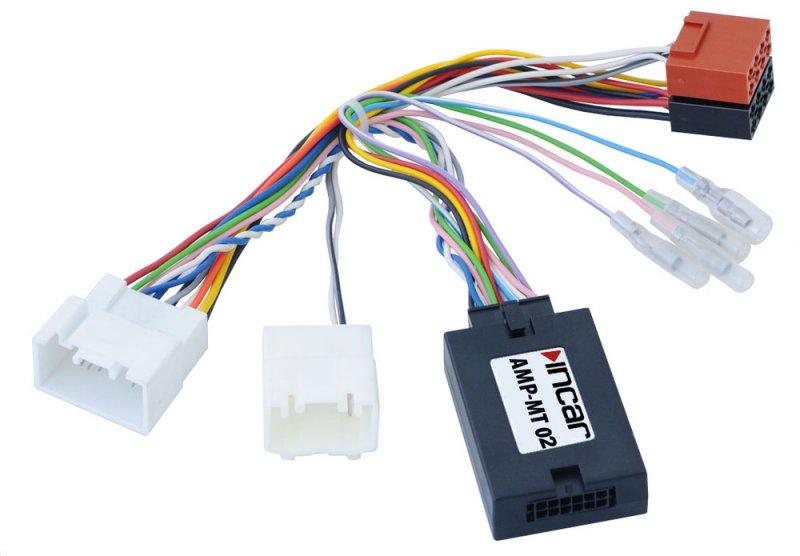 Адаптер подключения штатного усилителя Mitsubishi, Peugeot, Citroen (Incar АMP-MT02)