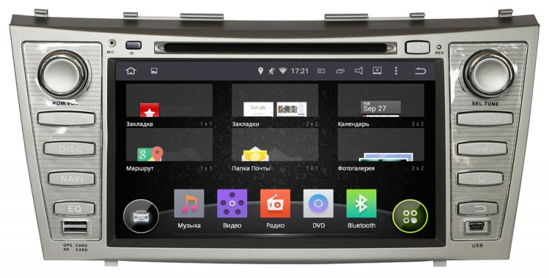 Toyota Camry 2006-2011, Incar AHR-2288 Android 4.4.4