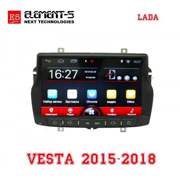 Lada Vesta 2015-2018, штатная магнитола