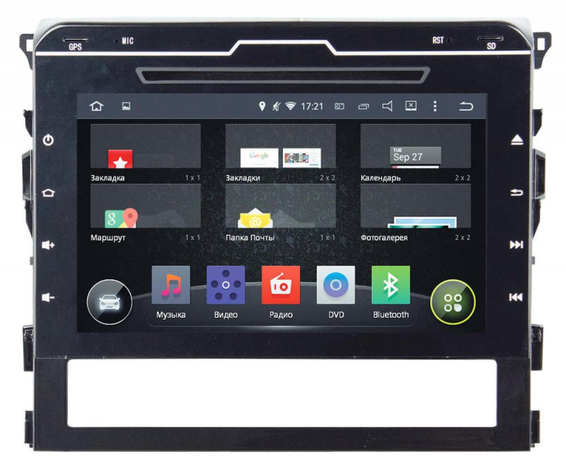 Toyota LC 200 2016+, Incar AHR-2239 Android 4.4.4