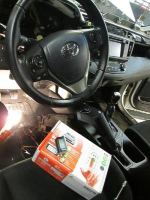Установка сигнализации на Toyota Rav 4 2014г.