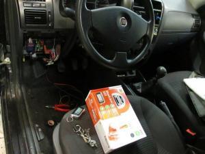 Установка сигнализации с автозапуском на Fiat Albea